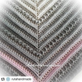 Today I would like to show you this lovely shawl made by @rutahandmade  Isn't it just pretty with the tiny touch of pink?   . .  #Repost @rutahandmade • • • • • • Little #gift for my friend 😘 @crochet_uk.co.uk created this yarn for me and I'm very satisfied with it, yarns are so soft and beautiful, thank you sweetie 😍  🧶 🧶 🧶  #crochetukcouk #crochetuk #crochetukyarn #crochetukyarncake #madeforafriend #crochetshawl #shawl #crocheterofinstagram #crocheteveryday #lovetocrochet #crochetgirlgang #instacrochet #crochetastherapy #crochetaddict
